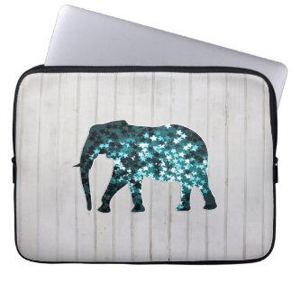 Whimsical Stars Sparkles Elephant Silhouette Laptop Sleeves
