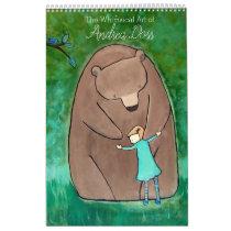 Whimsical Storybook Art Calendar by Andrea Doss