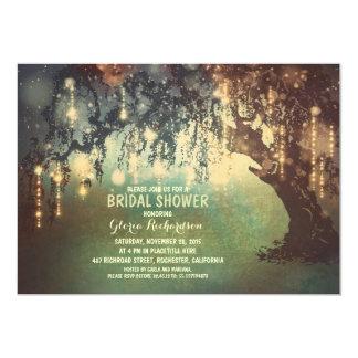 whimsical string lights tree bridal shower card