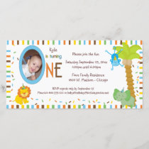 Whimsical Stripes And Animals First Birthday