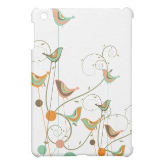 Whimsical Summer Birds Swirls Modern Nature Vines iPad Mini Cases