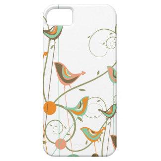 Whimsical Summer Birds Swirls Modern Nature Vines iPhone 5 Case