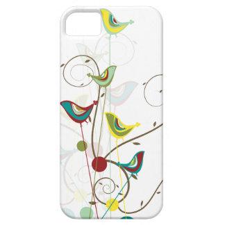 Whimsical Summer Birds Swirls Modern Nature Vines iPhone 5 Cover