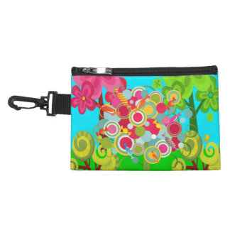 Whimsical Summer Lollipop Tree Colorful Forest Accessories Bag