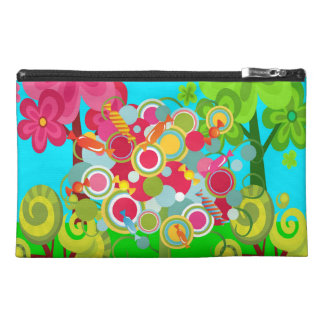Whimsical Summer Lollipop Tree Colorful Forest Travel Accessory Bag