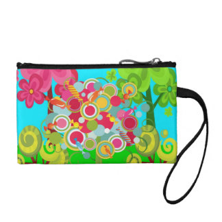 Whimsical Summer Lollipop Tree Colorful Forest Coin Wallet
