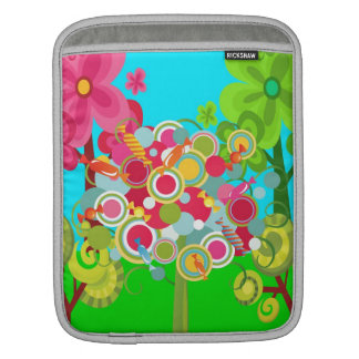 Whimsical Summer Lollipop Tree Colorful Forest Sleeves For iPads