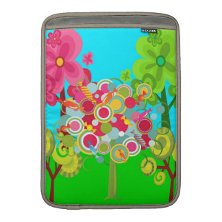 Whimsical Summer Lollipop Tree Colorful Forest MacBook Sleeves
