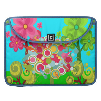 Whimsical Summer Lollipop Tree Colorful Forest MacBook Pro Sleeves