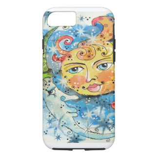 Whimsical Sun and Moon Design iPhone 7 Case