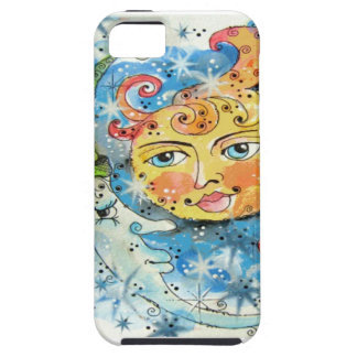 Whimsical Sun and Moon Design iPhone SE/5/5s Case