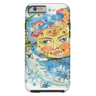 Whimsical Sun and Moon Design Tough iPhone 6 Case