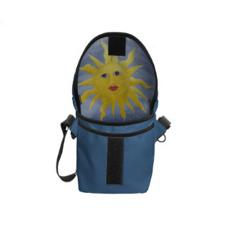 Whimsical Sun Courier Bag