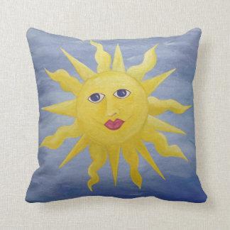 Whimsical Sun Throw Pillow