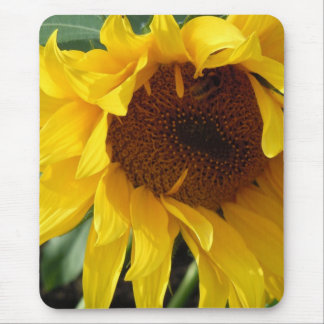 Whimsical Sunflower Mouse Pad