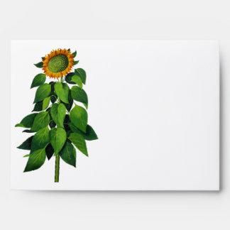 Whimsical Sunflower Wedding Envelopes