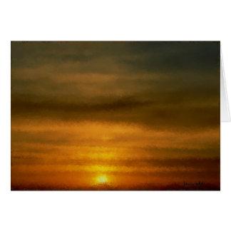 Whimsical Sunset  Card