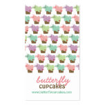 Whimsical Sweet Cupcakes Butterflies Bakery Pastel Business Card Templates