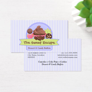 Whimsical Sweet Desserts Business Card