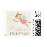 Whimsical Sweet Fairy Princess Birthday Stamps Stamps