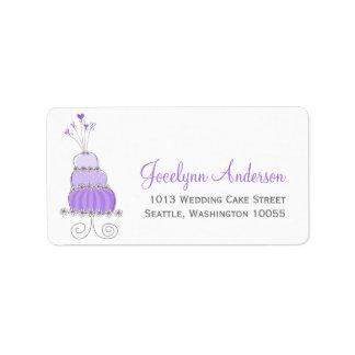Whimsical Sweet Wedding Cake Custom Address Labels Address Label