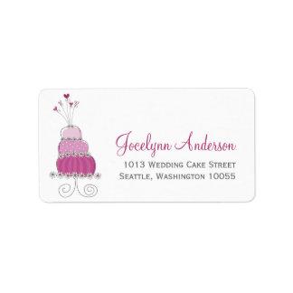 Whimsical Sweet Wedding Cake Custom Address Labels Labels