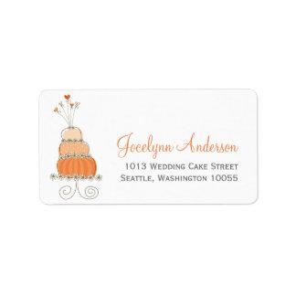 Whimsical Sweet Wedding Cake Custom Address Labels Personalized Address Label