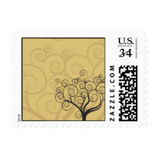 Whimsical Swirly Tree Stamps