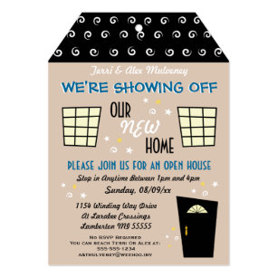Open house invitations 3100 open house announcements invites whimsical tag cut open house invitation stopboris Images