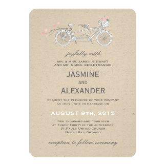 Whimsical Tandem Bicycle - Wedding Invitation