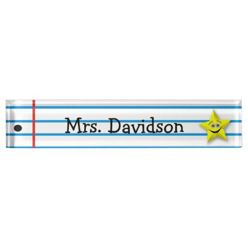 Whimsical Teacher S Custom Desk Nameplate Zazzle