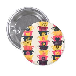 Whimsical Teacups Button