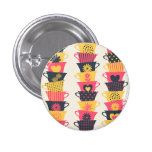 Whimsical Teacups Pinback Button