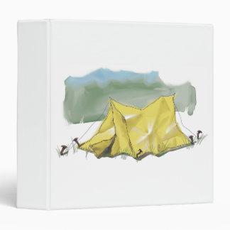 Whimsical Tent Illustration 3-Ring Binder