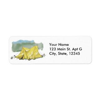 Whimsical Tent Illustration Address Labels