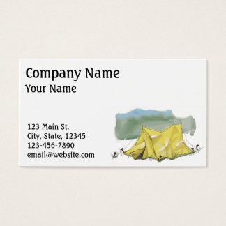 Whimsical Tent Illustration Business Card