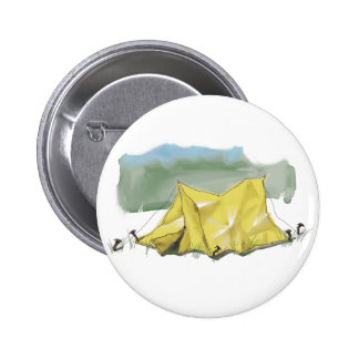 Whimsical Tent Illustration Button