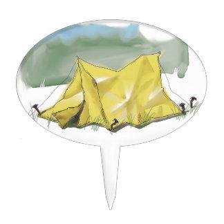 Whimsical Tent Illustration Cakepick