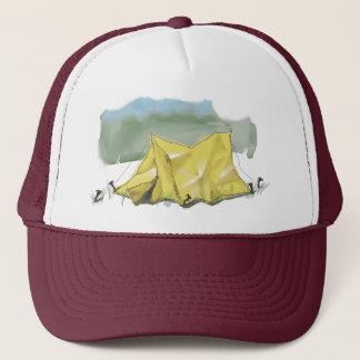 Whimsical Tent Illustration Hat
