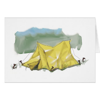 Whimsical Tent Illustration Note Card