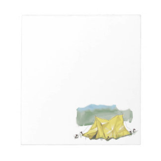 Whimsical Tent Illustration Notepad