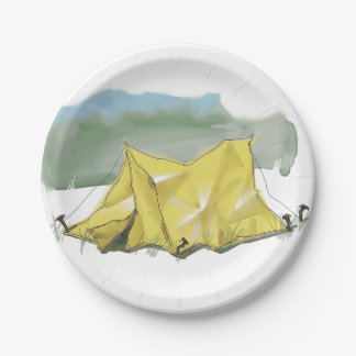 Whimsical Tent Illustration Paper Plates