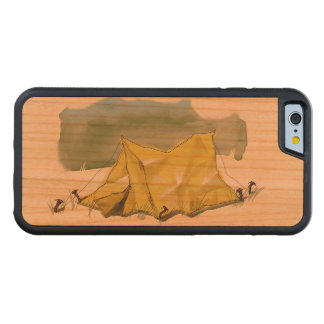 Whimsical Tent Illustration Wood Smartphone Case