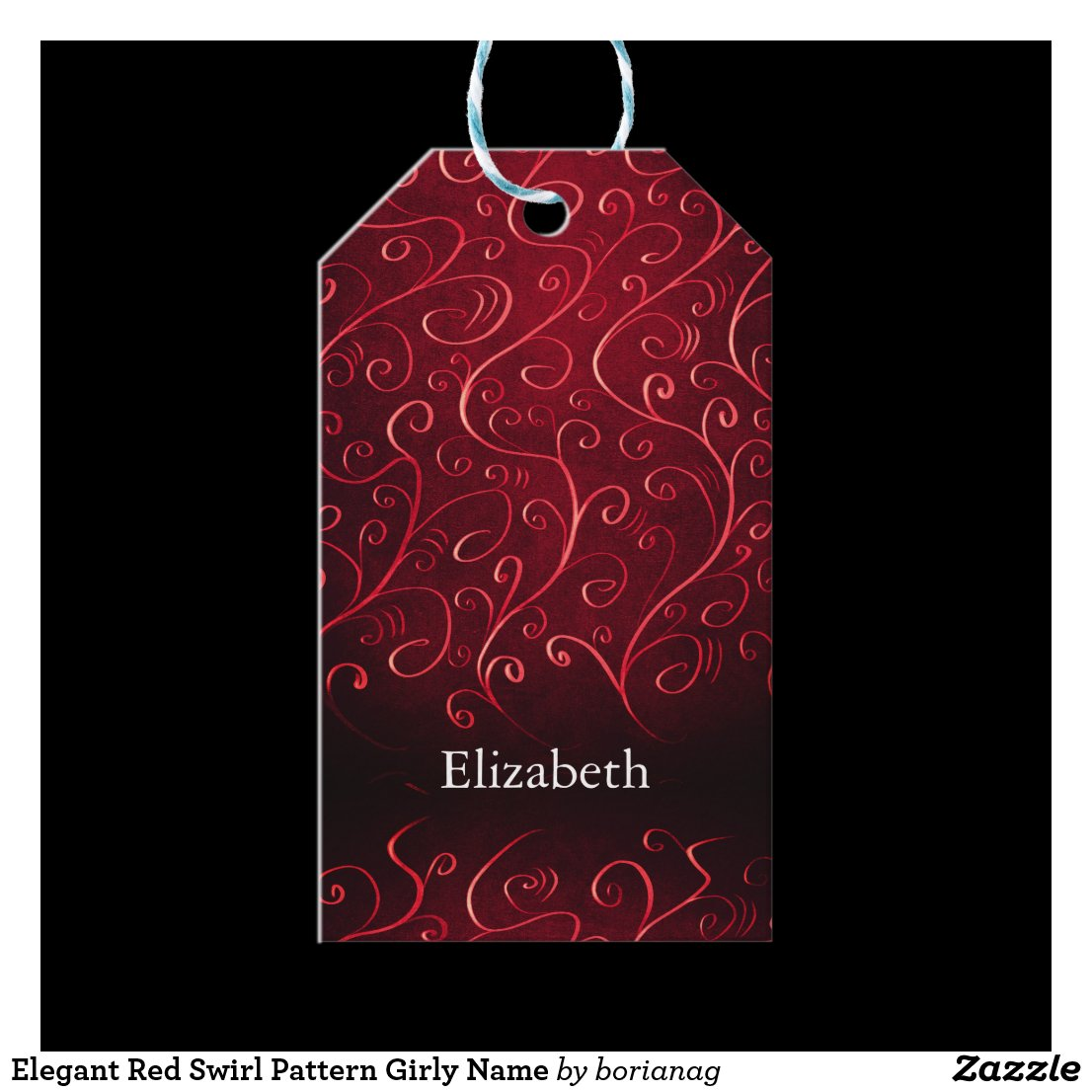 Whimsical Textured Abstract Red Swirl Pattern Name