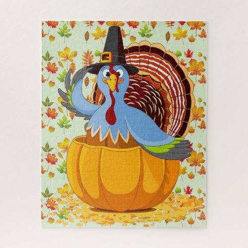 Whimsical Thanksgiving Turkey Photo Puzzle - 110 Pieces