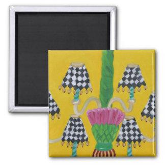 Whimsical Thistle Chandelier Magnet