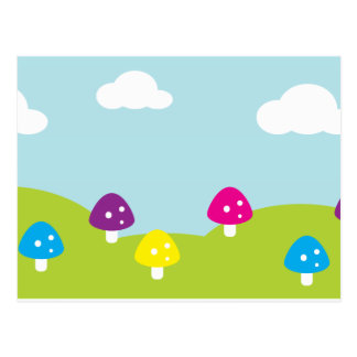 Whimsical Toadstools Postcard