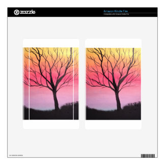 Whimsical tree art. kindle fire decal
