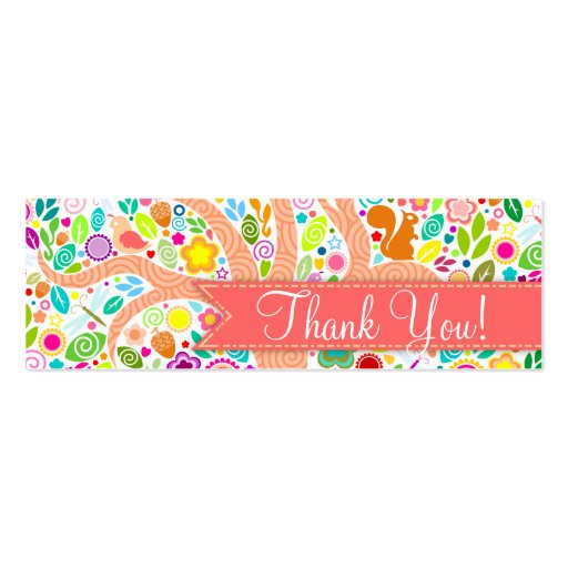 """Whimsical Tree - Baby Shower """"Thank You"""" Tags Business Card Template"""