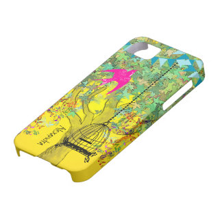 Whimsical Tree Birdcage Bright Color Musical Notes iPhone 5 Cases